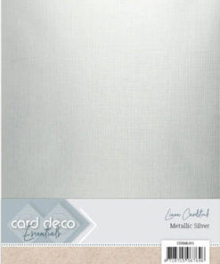 Metallic karton / Sølv / A4