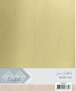 Metallic karton / Guld / A4, 6 ark