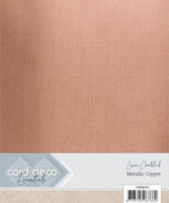 Metallic karton / Kobber / A4, 6 ark