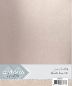 Metallic karton / Rose guld / A4, 6 ark