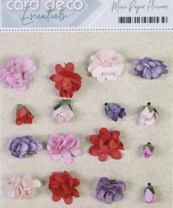 Blomster mini, papir, pink / 20 stk