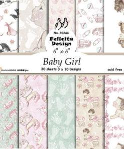 Karton 15x15 cm / Baby girl / Felicita design