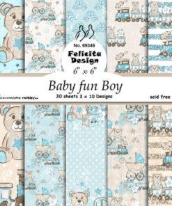 Karton 15x15 cm / baby fun boy / felicita design