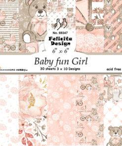 Karton 15x15 / Baby fun girl / Felicita design