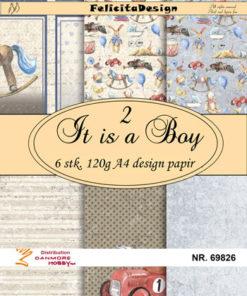 Papir A4 / It is a boy / Felicita Design