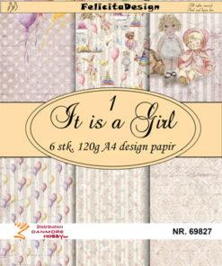 Papir A4 / It is a girl / Felicita design