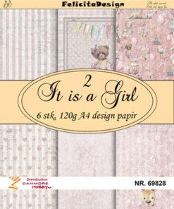 Papir A4 / It is a girl 2 / Felicita Design