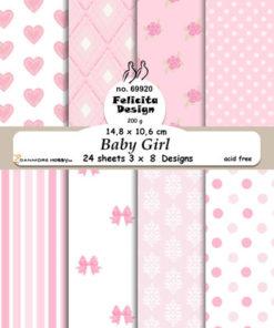 Karton A6 / Baby girl / Felicita design