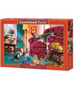 Puzzlespil / Frække kattekillinger / 500 brikker
