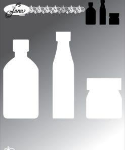 Dies / Flaske kort / By Lene