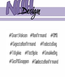 Stempel / Hashtag tekster / NHH Design