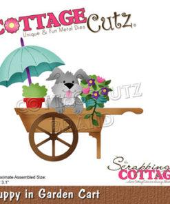 Dies / Hund i trillebør / Cottage Cutz