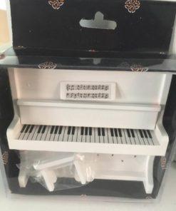 Klaver med skammel, hvid / dukkehus