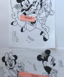 Mickey & minnie / lap på lap