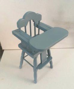 Højstol, blå / Dukkehus