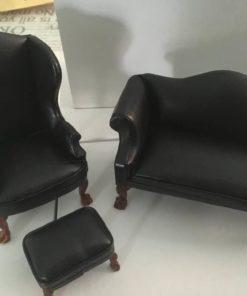 Sofa, stol & Skammel / dukkehus