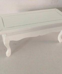 Sofabord, hvid / dukkehus