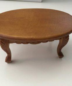 Sofabord,oval,valnød / Dukkehus