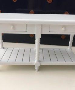 Køkkenbord, hvid / Dukkehus