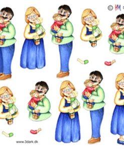 Diverse / bedsteforældre med børnebørn / Hm design