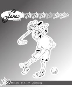 Stempel / Sjov golfspiller-1 / By Lene