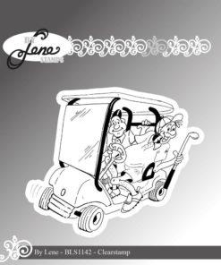 Stempel / Sjove golfspillere / By Lene