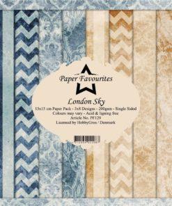 Karton 15x15 cm / London sky