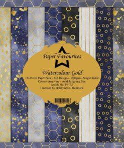 Karton 15x15 cm / Watercolour gold