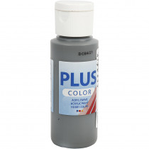 Plus color hobbymaling / Mørk grå, 60 ml