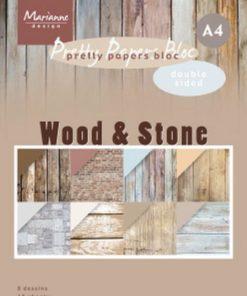 Karton A4 / Wood & stone / Marianne Design