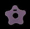 Stjerneformet bidering i lilla
