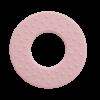 Rund bidering i lyserød