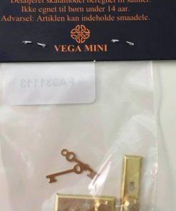 Dørhåndtag med nøgler, 2 stk