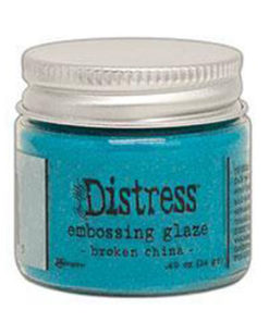 Distress embossin glaze / Broken China