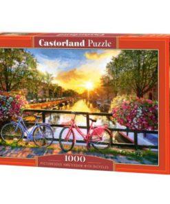 Puzzlespil / Amsterdam på cykel / 1000 brikker