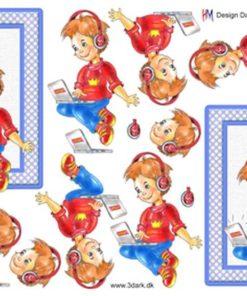 Børn / Dreng med pc / Hm Design