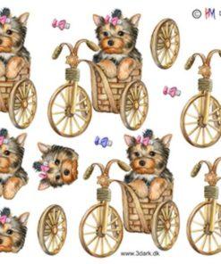 Dyr / Hund i cykelkurv / Hm Design