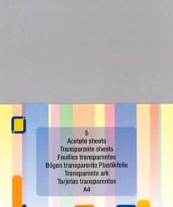 Plastfolie klar A4, 5 ark / Acetate