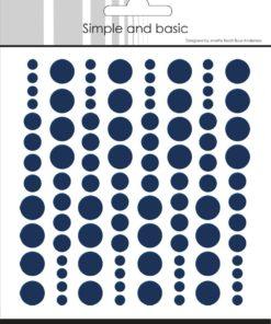 Enamel dots / Mørke blå / Simple and basic