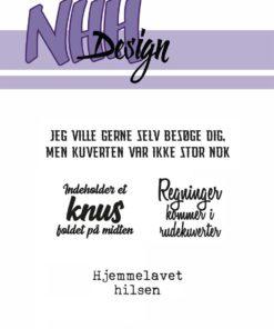 Stempel / Kuvert tekster / NHH Design