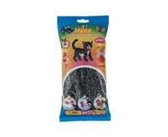Hama midi perler, 6000 stk / Mørke grå
