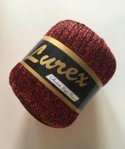 Garn / Lurex rød / 25 g