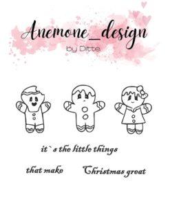 Stempel / Happy christmas / Anemone Design