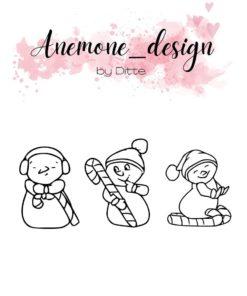 Stempel / Candy snowman / Anemone Design