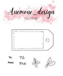 Stempel / Gift tag / Anemone Design