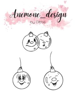 Stempel / Christmas balls / Anemone Design