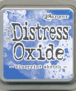 """Distress oxide 3"""" x 3"""" / Blueprint sketch"""