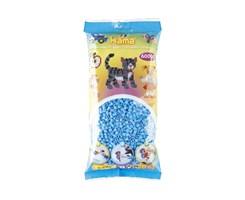 Hama midi perler, 6000 stk / Pastel blå