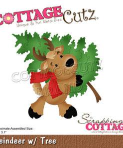 Dies / Rensdyr med juletræ / Cottage Cutz