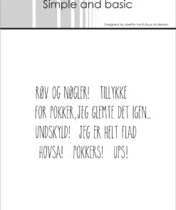 Stempel / Dansk tekst / Simple and Basic